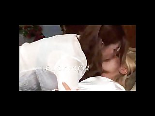 Passionate lesbian couple kissing