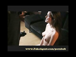 Fakeagent brunette with amazing natural tits makes me cum
