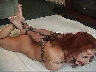 Whitney hogtied Ballgagged