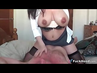 Sucking Lactating Mommy\'s Big Tits & Fucking Her Pussy