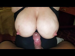 36dd Tittyfuck cock to nipple rubbing cumshot