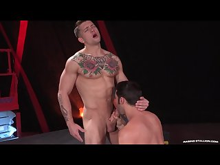 Raging Stallion built tattooed jock ass fuck