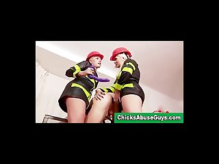 Firefighters femdom girls fucking with strapon