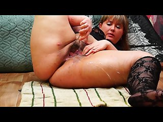 Bbw masturbating and squirt