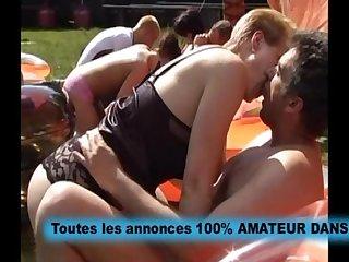 Baise echangiste en plein air orgy anal amateur