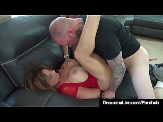 Cougar deauxma subdued tied up by ariella ferrara 2 men