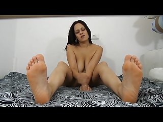 Pretty feet and dildo hj