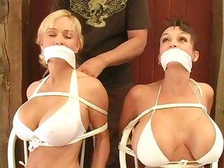 White bikini bondage