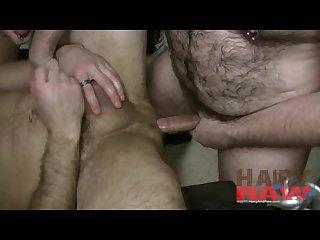Hairy and raw dc gangbang