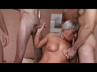 Group sex with russian granny