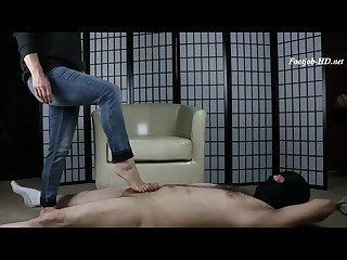 Milf trample and cum on feet