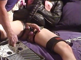 Cbt strait jacket electro young big cock