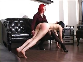 Naughty girl spanked hard