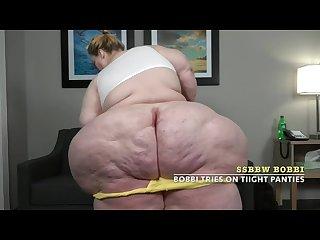 Ssbbw bobbi tires on tight panties