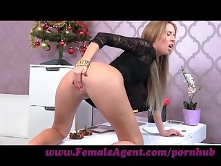 FemaleAgent. Bad Santa gets a great casting foot job