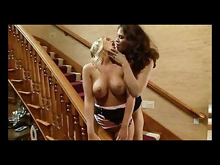 Hot girls having sex on the stairs