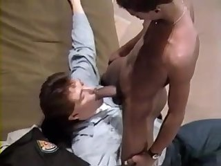 Black prison guard barebacks prisoner