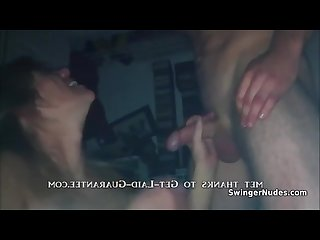Swinger housewife fucked by two guys at once