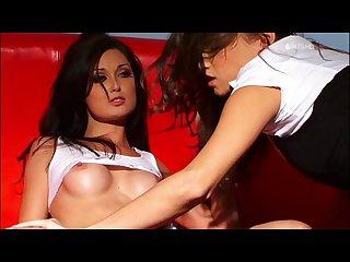 Two sexy smoking lesbians