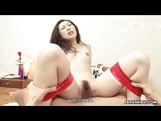 Asian slut tied up and gets threesome fucked hard