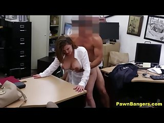 Pawn shop porn big boobs mom spreads her legs for cash