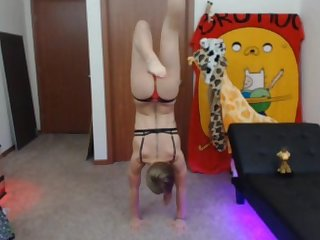 20 year old gymnast doing handstand pushups