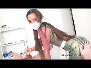 Milked by masked nurse amirah