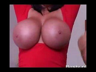Big boobs lesbians striptease
