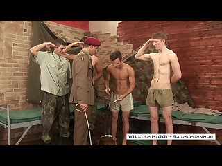 5 military hunks in group orgy part 1