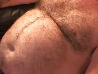 Fat mature Bear jerking off