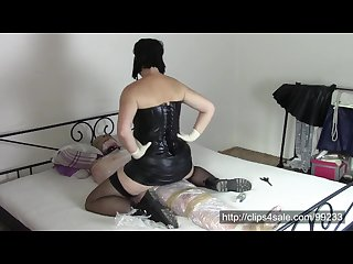 Gothic wife in surgical gloves part 2 ride on Mummy penis