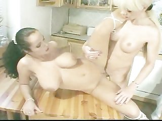 Shemale joanna bangs a girl