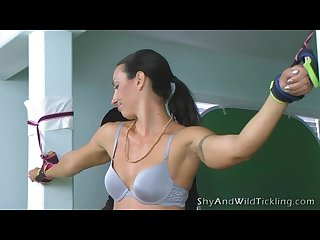 Shy and wild Tickling bad teacher 3