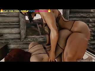 Strong Futa fucks girl Futa x female futnari videogame