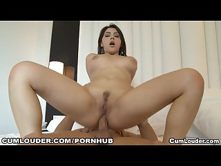 Cute valentina nappi takes a big cock deep in her ass