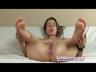 Lelu love spreading pussy asshole soles joe