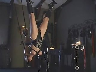 Hang bound and gagged Spy
