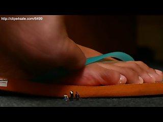 Asian sandal Giantess Crush