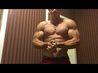 Alpha muscle god flexes awesome muscles