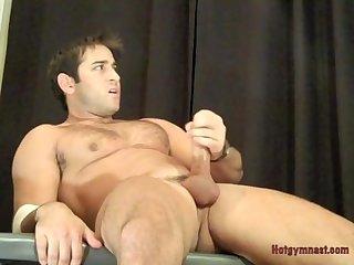 Gymnast cock tease