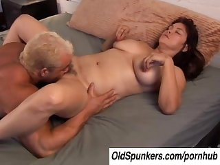 Cute chubby mature big tits babe is a super hot fuck