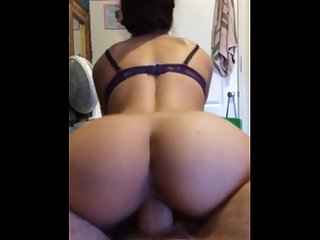 State smokes latina with a huge ass rides big dick reverse cowgirl