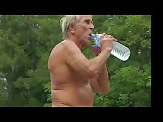 Nudist grandpa at the beach 3
