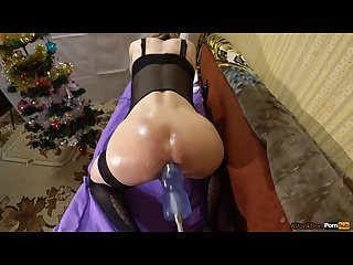 Christmas fuck 2 fucking ass in oil big boy dong 12 inch