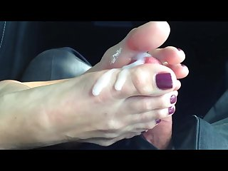 Cum on feet toes compilation w music