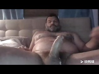 Big thick dick hariy sexy dad jerk and cum