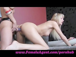 Femaleagent hot blondes and strap ons
