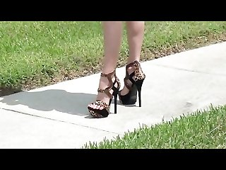 High heel foot tease