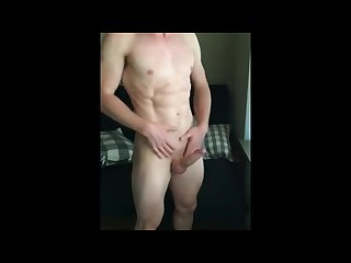 Ripped hunk strips and shows his boner shredded dude jerks hot Muscle guy