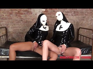 Naughty lesbo rubber nuns